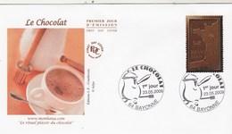 France FDC 2009 Le Chocolat Cachet Bayonne - FDC