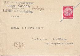 Czech Vorlaüfer Deutsches Reich EGON CZECH, RAINWIESE Herrnkretschen Sudetengau 1938 HABERN Bei Caslau (2 Scans) - Covers & Documents