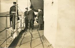 Warship Marine Kriegsschiff AK Die Deutschen Kriegsschiffe Arrival Of Officers On The Warship - Guerra