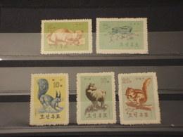 COREA NORD - 1962 ANIMALI  5 VALORI - NUOVI(++) - Corea Del Nord