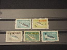COREA NORD - 1961 PESCI  5 VALORI - NUOVI(++) - Corea Del Nord