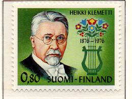 PIA - FINLANDIA - 1976 : Centenario Della Nascita Del Compositore Heikki Klemetti - (Yv 747) - Musica