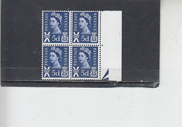 GRAN BRETAGNA  1967-70 - Unificato  533 (quartina) - Galles - Regionali