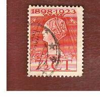 OLANDA (NETHERLANDS) -  SG 261   -   1923 25^ ANNIVERSARY OF QUEEN WILHELMINA ACCESSION  7 1/2  -  USED (°) - Usati