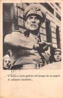"""D9274 """"L ITALIA E STATA GETTATA NEL FANGO DA UN PUGNO DI VILLISSIMI TRADITORI, SERVIZIO POSTA DA C"""" ANIMATA , CART  SPED - Guerra 1939-45"""