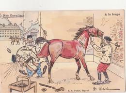 CP - Nos Cavaliers à La Forge - Humour