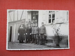RPPC Soldiers  German WWII   Group Photo With Females    Ref 3381 - Militaria