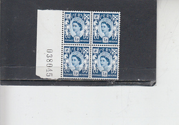 GRAN BRETAGNA  1967-70 - Unificato  539 - (quartina) -  Scozia - Regionali