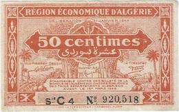 Argelia - Algeria 50 Céntimes 1944 Pk 97 A Ref 3 - Argelia