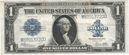 Estados Unidos - United States 1 Dollar 1923 Pk 342 1 Sello Azul, Firmas Speelman Y White Ref 6 RARE - Silver Certificates - Títulos Plata (1878-1923)