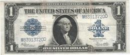 Estados Unidos - United States 1 Dollar 1923 Pk 342 1 Sello Azul, Firmas Speelman Y White Ref 3446-2 RARE - Silver Certificates - Títulos Plata (1878-1923)