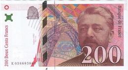 Francia - France 200 Francs 1997 Pk 159 B.2 Firmas Bruneel, Bonnardin Y Barroux Ref 3447-2 - 200 F 1995-1999 ''Eiffel''
