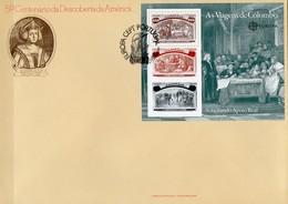 CEPT 1992 Portugal Block 85 FDC 8€ Entdeckung Amerika Kolumbus Bei Isabella I.bloque S/s Bloc Cover Sheet Bf Europa - 1910-... República