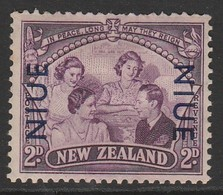 Niue 1946 Victorious End Of Second World War - New Zealand Postage Stamps Overprinted 2 P Purple SW 72 * MM - Niue