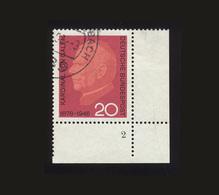 BRD 1966: Michel-Nr. 505, 20. Todestag Von Kardinal Clemens Graf Galen, Eckrand Rechts Unten Mit Formnummer 2, - BRD