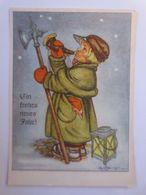 """""""Neujahr, Kinder, Nachtwächter, Horn, Laterne"""" 1950, Tilly Baumgarten  ♥  - Año Nuevo"""