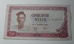1980 - Guinée République - 50 SYLIS, Le 1er MARS 1960, DA 095175 - Guinea