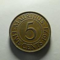 Mauritius 5 Cents 1971 - Mauricio
