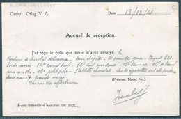 1941 Germany Kriegsgefangenenpost Oflag 5A Postkarte. French POW - Paris. Paket Censor. Accuse De Reception + Message! - Storia Postale