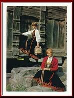 ★★ VEST TELAMARKSDRAKTER. STPL EDLAN 1977 ★★ TELEMARK LOCAL COSTUMES. NORWAY ★★ - Norway