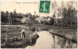 22 CALLAC - La Rivière à Pont Kergrec'h - Callac