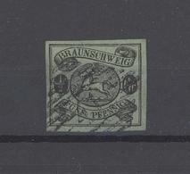 Braunschweig Mi.Nr. 10, 1-2 Groschen Freimarke 1861 Gestempelt (27194) - Braunschweig