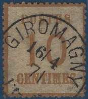 FRANCE Alsace Lorraine N°5 10c Dateur Allemand De Giromagny RR - Alsace-Lorraine