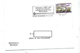 Lettre Flamme Lyon Aeroport Satolas - Marcophilie (Lettres)
