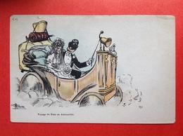 Illustrateur GUILLAUME - VOYAGE DE NOCE EN AUTOMOBILE - HUWELIJKSREIS IN EEN AUTOMOBIEL - Guillaume