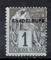 GUADELOUPE - YT N° 14aA Gnadeloupe - Neuf * - Cote: 12,00 € - Unused Stamps