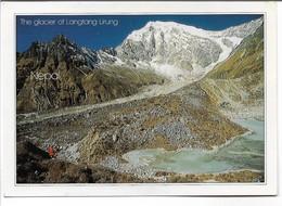 The Glacier Of Langtan Lirung. Nepal. Sent To Denmark  1992. . B-3607 - Nepal