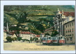 Y12618/ Italien Gries Bei Bozen Kaiser Franz Josef-Platz Straßenbahn AK - Unclassified