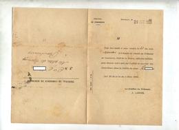 Lettre Cachet Timbre Oté Controleur De Faillite Bordeaux - Marcophilie (Lettres)
