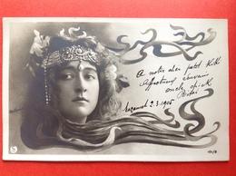 1905 - ART NOUVEAU - FEMME AVEC DIADEME - DAME MET DIADEEM - PHOTO REUTLINGER - PARIS - Illustrateurs & Photographes
