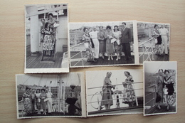 TRIESTE 6 FOTO NAVE TOSCANA 1953 IN PARTENZA PER L'AUSTRALIA TERRITORIO LIBERO TLT PROFUGHI - Foto