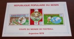 Bénin - 1978 - Bloc Feuillet BF N°Yv. 27 - Football World Cup - Neuf Luxe ** / MNH / Postfrisch - Benin - Dahomey (1960-...)