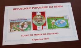 Bénin - 1978 - Bloc Feuillet BF N°Yv. 28 - Football World Cup - Neuf Luxe ** / MNH / Postfrisch - Benin - Dahomey (1960-...)
