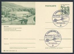 Deutschland Germany 1965 Card / Karte - Briefmarkenausstellung Budapest / Stamp Exhibition - Kettenbrücke - Bruggen