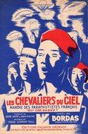 """PARTITION PATRIOTIQUE """" CHEVALIERS DU CIEL"""" - HOMMAGE AUX PARACHUTISTES FRANCAIS - 1950 - EXCELLENT ETAT COMME NEUVE - - Documents"""