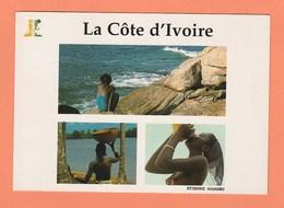 COTE D'IVOIRE LA JEUNE FILLE ET LE COCOVERT JEUNE FILLE AU MARIGOT PLAGE SAN PEDRO - Ivory Coast