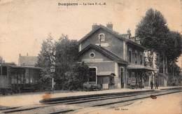 CPA DOMPIERRE - La Gare - France