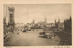 CPA - Belgique - Oostende - Ostende - La Place De La Gare - Oostende