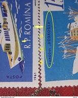 NAVY SHIPS, MNH **, ERROR  Romania 1964, Mi 1972-77, Navy,ships, With Spot Color Mi.1974,mnh - Errors, Freaks & Oddities (EFO)