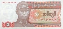Myanmar 1 Kyat, P-67 (1990) - UNC - Myanmar
