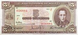 Bolivia 5 Bolivianos, P-138a (L.1945) - EF/XF+ - Bolivia
