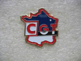Pin's De La CGT France. Carte De France - Administration