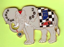Gros Pin's Club Lions Éléphant Bangkok - #365 - Animals