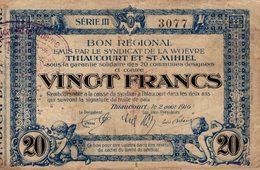 7296-2019    BILLET  DE  THIAUCOURT ET ST MICHEL - France