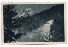 1951 YUGOSLAVIA, SLOVENIA, PLANICA TO BELGRADE, BIG SNOW JUMP COURSE,  ILLUSTRATED POSTCARD,  USED - Yugoslavia