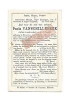 D 769.  PAULA VANSCHILLEBEEK - °BEVERLOO 1821 En Aldaar + 1891 - Devotion Images